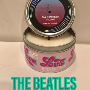 The Beatles All You Need Is Love candle NWOT